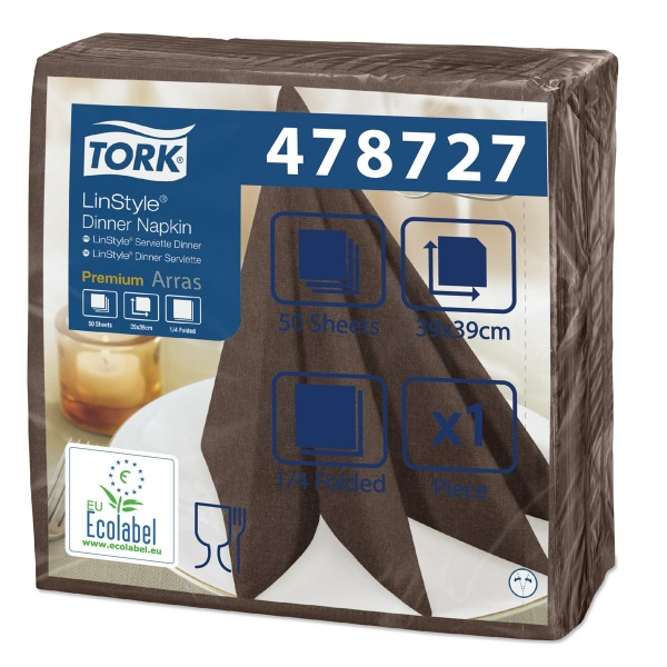 Tork Linstyle Dinner Guardanapo Chocolate - 600 Unidades